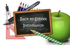 Image result for back to school information