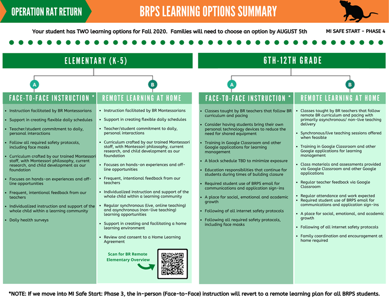 BRPS Learning Options Summary