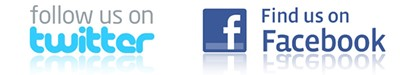 follow us on facebook find us on twitter