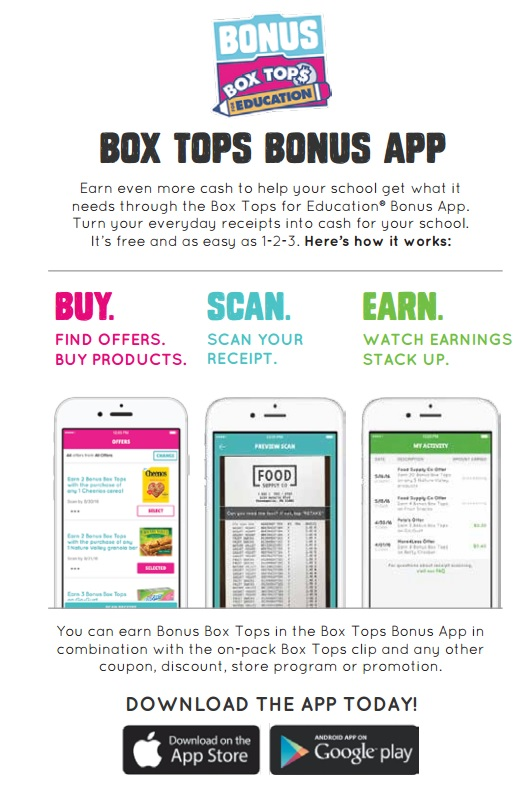 *New Box Tops Apps